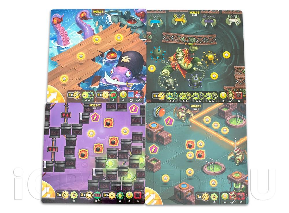 Новые поля уровней настольной игры Луни Квест: Затерянный город (Loony Quest: The Lost City, дополнение)