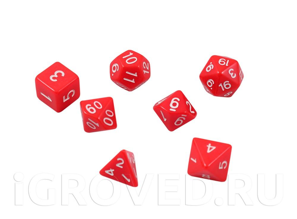 Набор кубиков STUFF PRO для ролевых игр. Красные