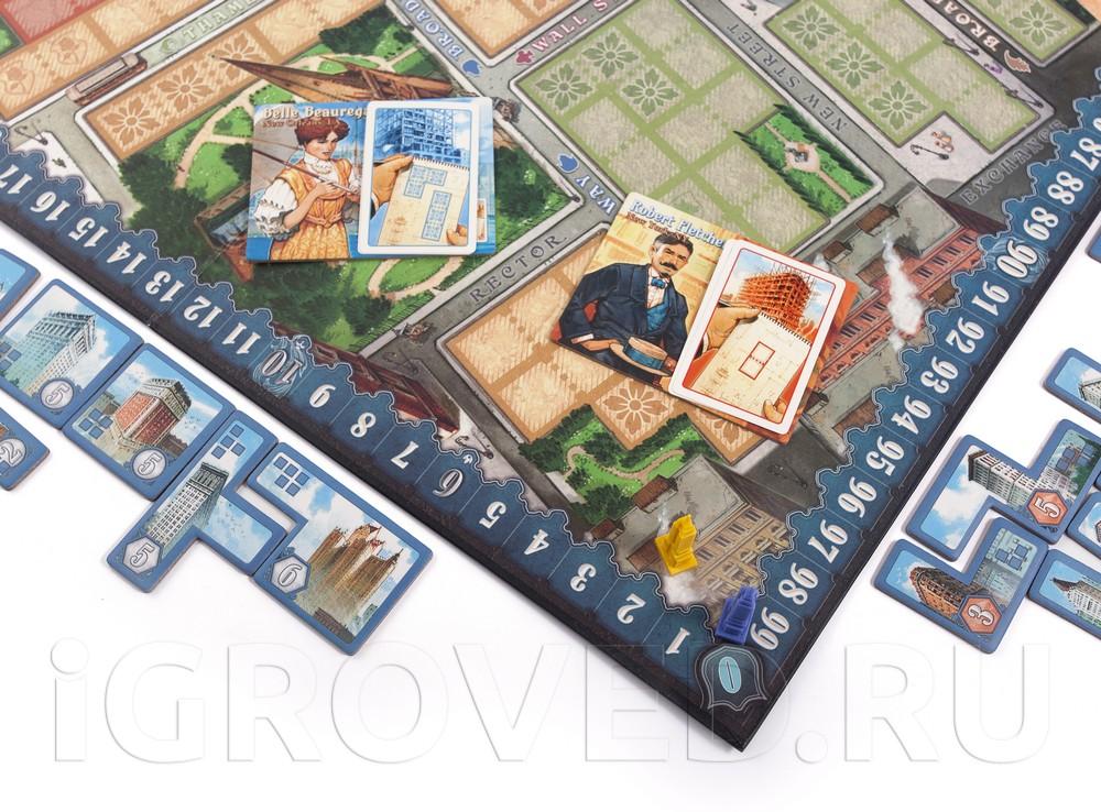 Игровой процесс настольной игры Нью-Йорк 1901 (New York 1901)