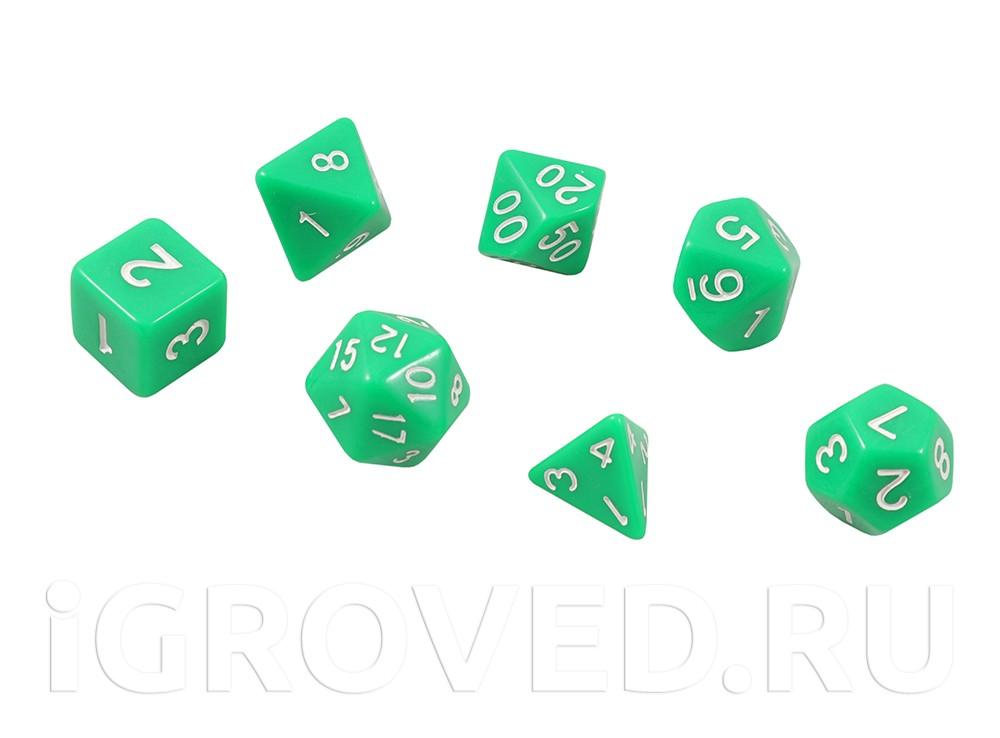 Набор кубиков STUFF PRO для ролевых игр. Зеленые