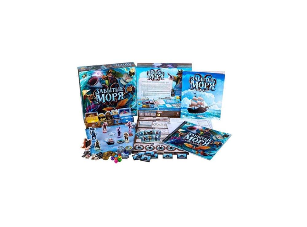 Коробка и компоненты настольной игры Забытые моря