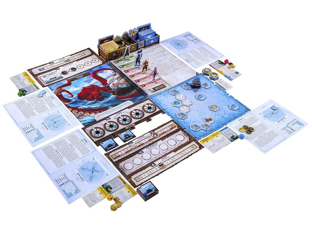 Компоненты настольной игры Забытые моря