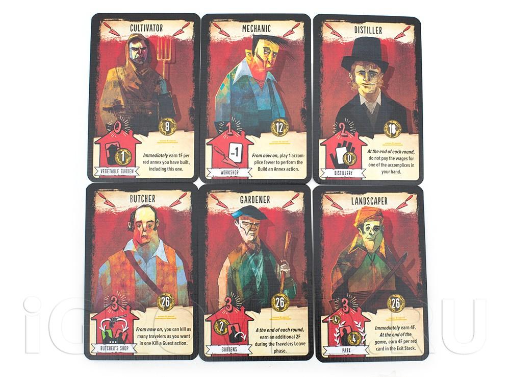 Карточки настольной игры Кровавая таверна (The Bloody Inn)