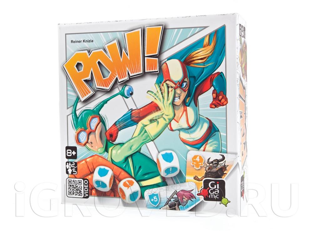 Коробка настольной игры Герои и злодеи (POW!)