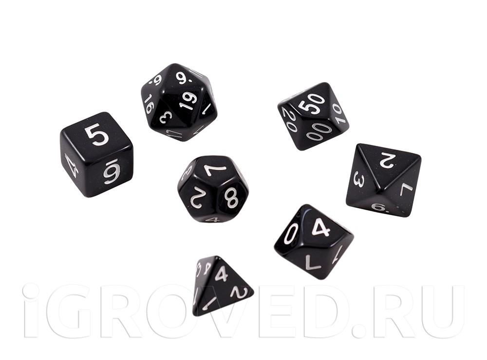 Набор кубиков STUFF PRO для ролевых игр. Черные