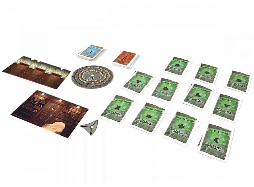 Компоненты настольной игры Exit. Зловещий особняк