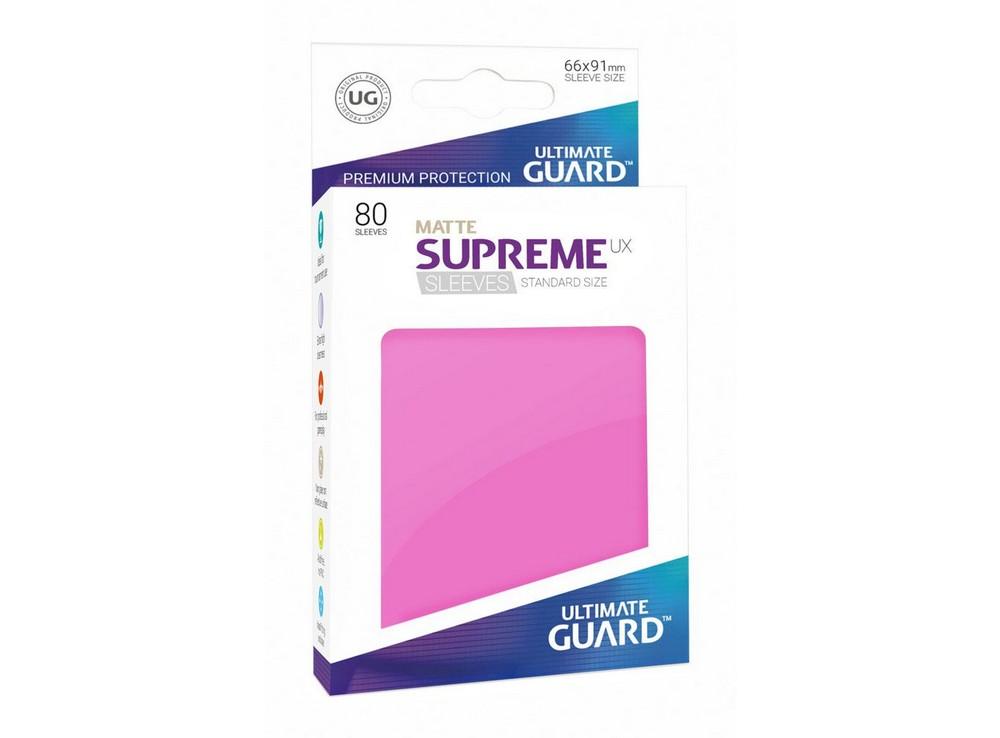 Протекторы Ultimate Guard, матовые розовые (Supreme UX Sleeves Standard Size Matte Pink)