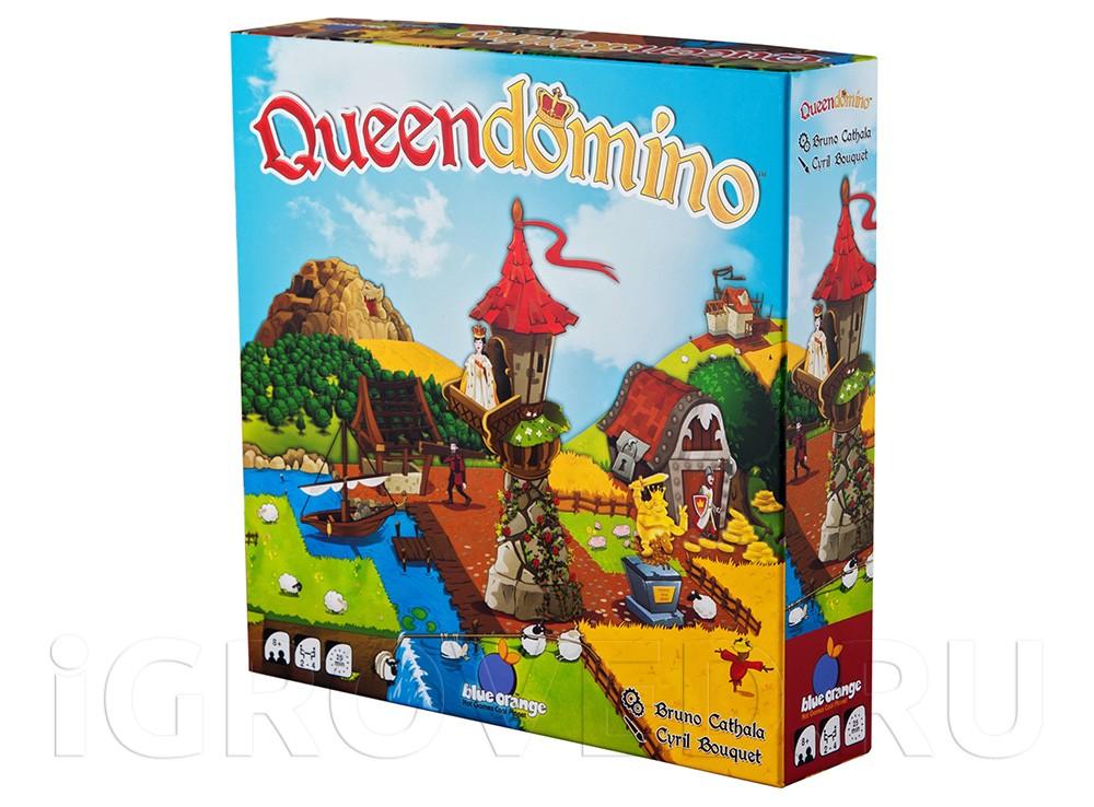 Коробка настольной игры Лоскутная империя (Queendomino)