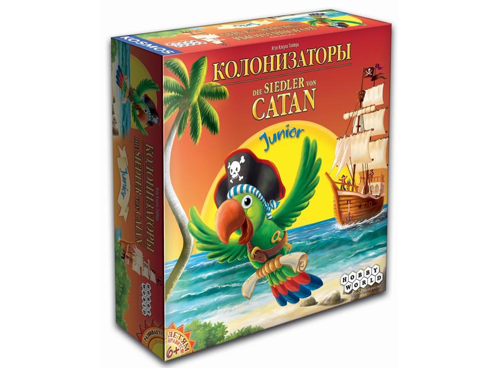Коробка настольной игры Колонизаторы Junior