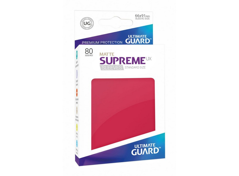 Протекторы Ultimate Guard, матовые красные (Supreme UX Sleeves Standard Size Matte Red)