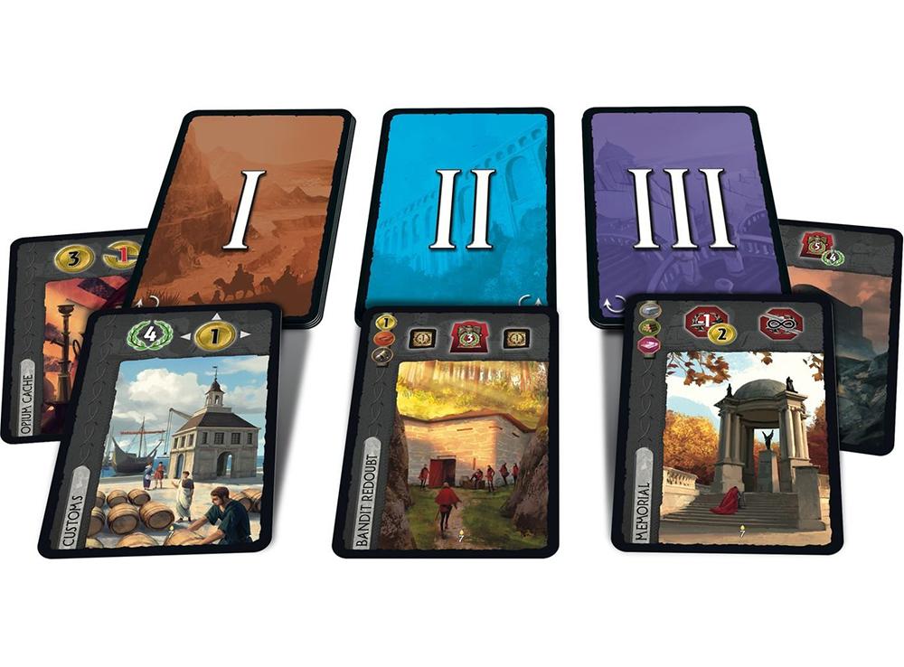 Карты настольной игры 7 Чудес: Города Юбилейное дополнение (7 Wonder: Cities Anniversary Pack )
