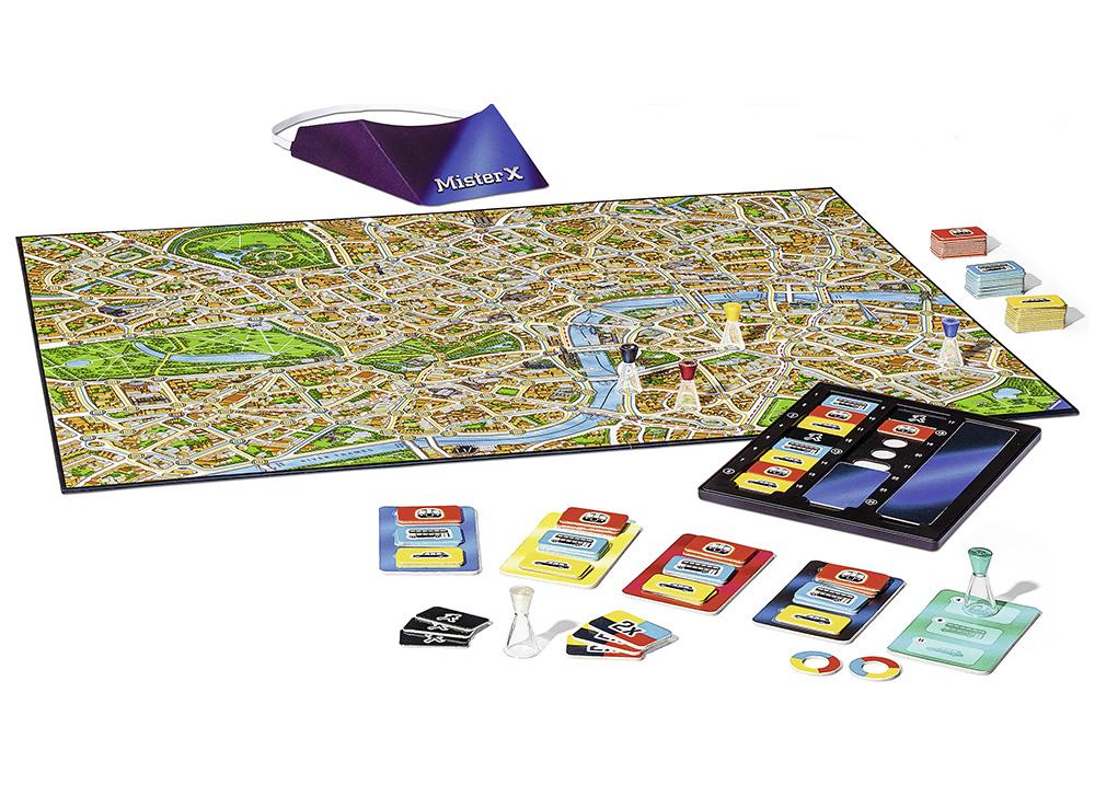Компоненты настольной игры Скотланд Ярд (Scotland Yard)