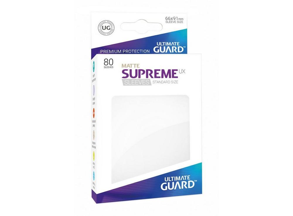 Протекторы Ultimate Guard, матовые белые (Supreme UX Sleeves Standard Size Matte White)