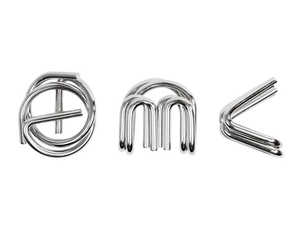 Три пазла Головоломки E=MC2 металл