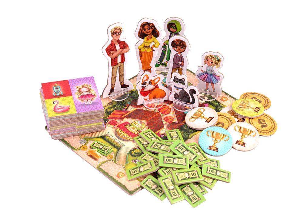 Компоненты настольной игры Мой магазин игрушек
