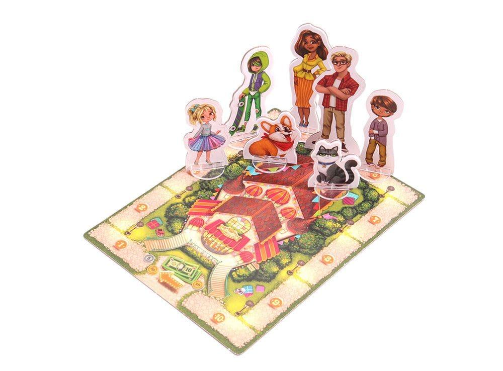 Игровое поле и компоненты настольной игры Мой магазин игрушек