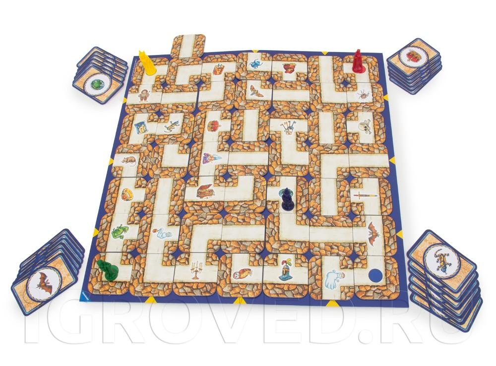 Игровой процесс настольной игры Сумасшедший Лабиринт