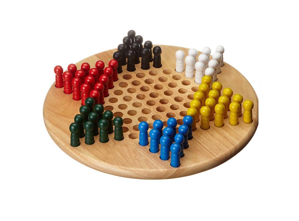 Игровое поле и фишки настольной игры Китайские шашки (Halma или Chinese Checkers, Philos)
