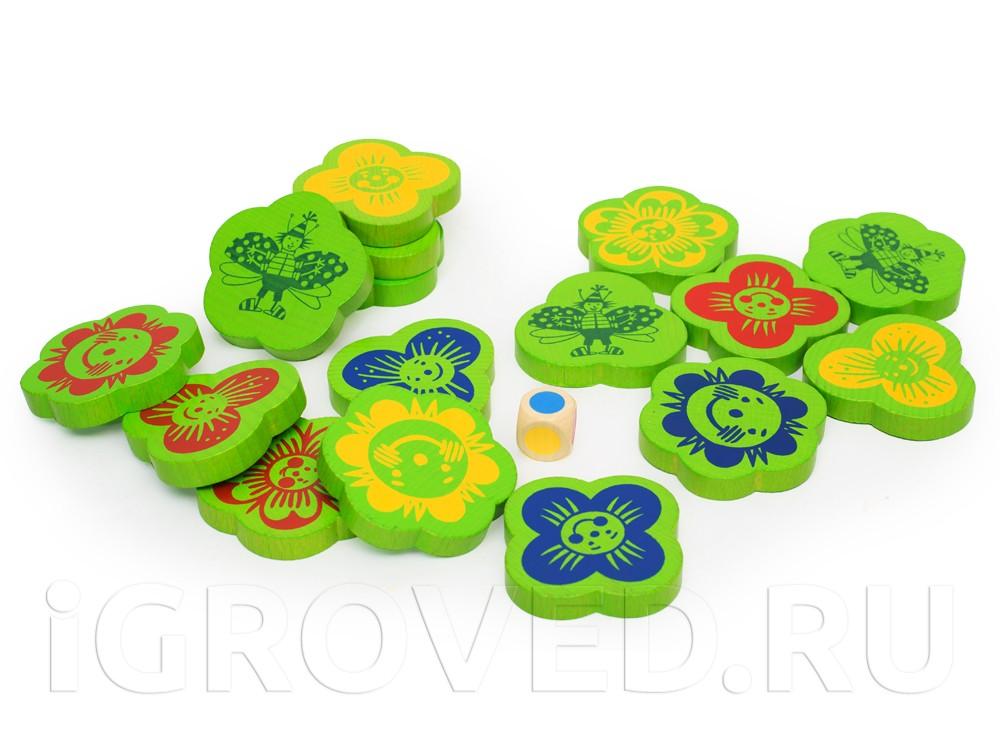 Компоненты настольной игры Собери букет (Finding flowers)