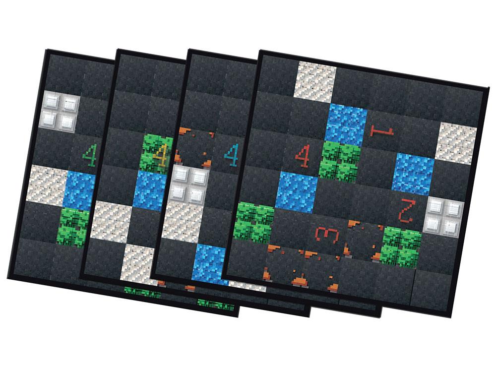 Двусторонние фрагменты игрового настольной игры Танчики