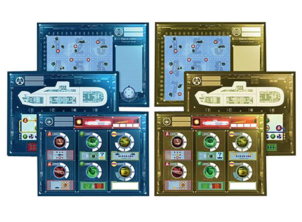 Компоненты настольной игры Капитан Сонар