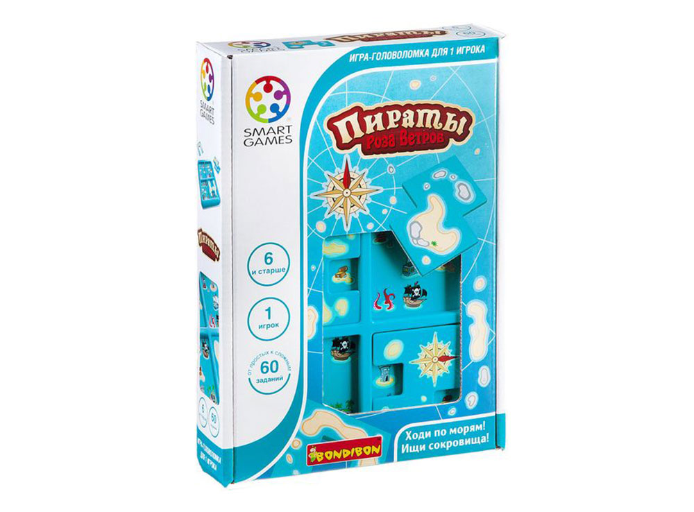 Коробка настольной игры-головоломки Пираты. Роза ветров