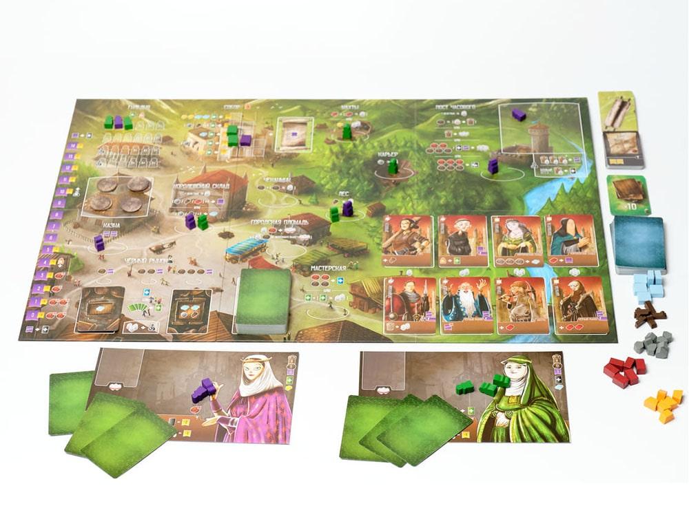 Игровой процесс настольной игры Архитекторы Западного Королевства