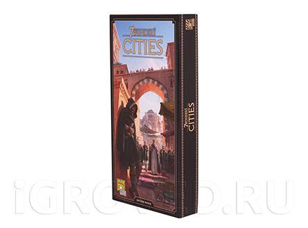Коробка настольной игры 7 чудес: Города (7 Wonders: Cities, дополнение)