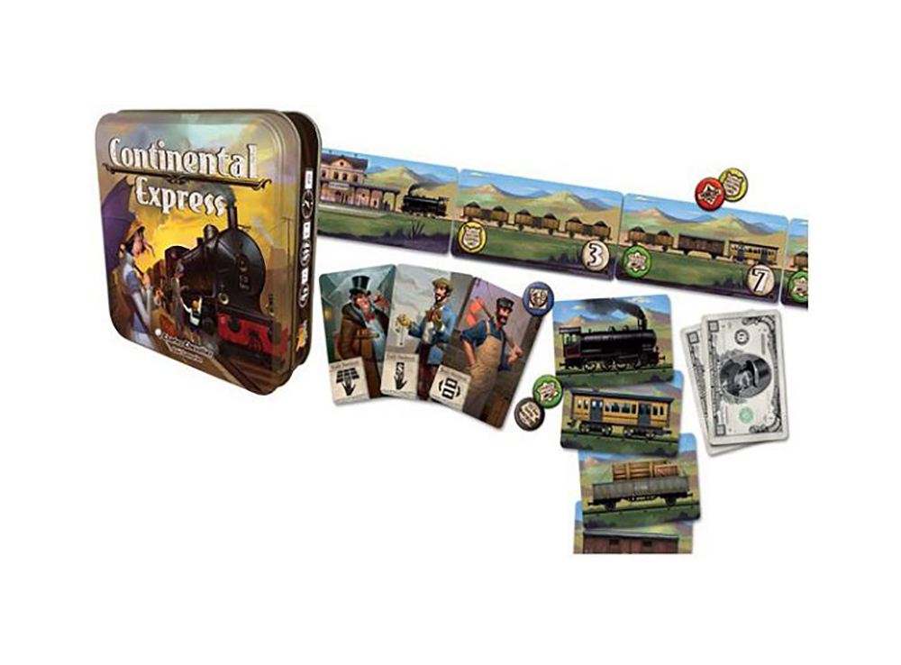 Компоненты настольной игры Континентальный экспресс (Continental express)