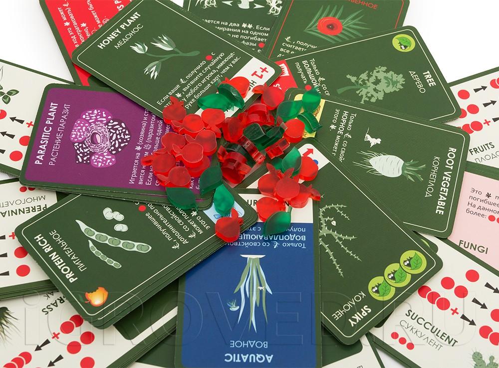 Компоненты настольной игры Эволюция: Растения (дополнение)