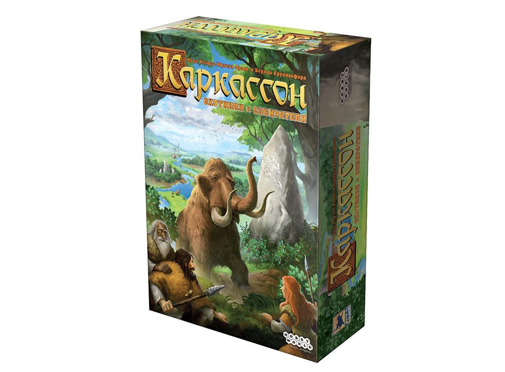 Коробка настольной игры Каркассон. Охотники и Собиратели