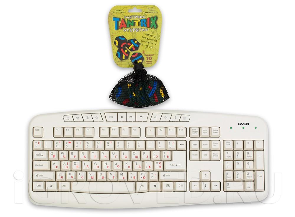 Настольная игра Тантрикс Открытие в зеленом сетчатом мешочке по сравнению с клавиатурой