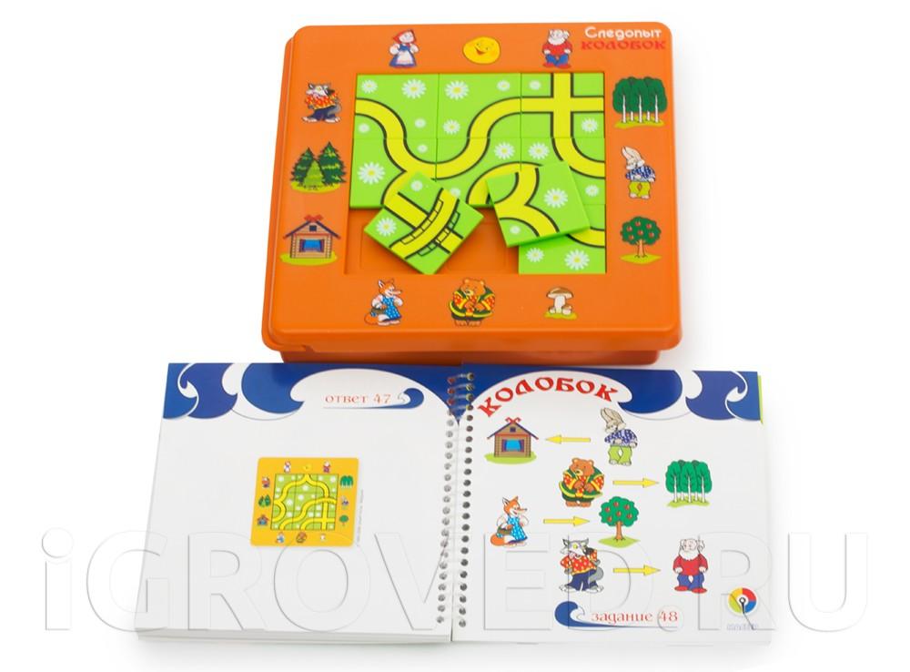 Компоненты настольной игры-головоломки Следопыт Колобок