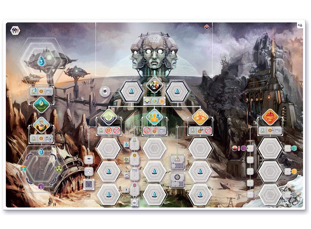 Основное игровое поле настольной игры Анахронность
