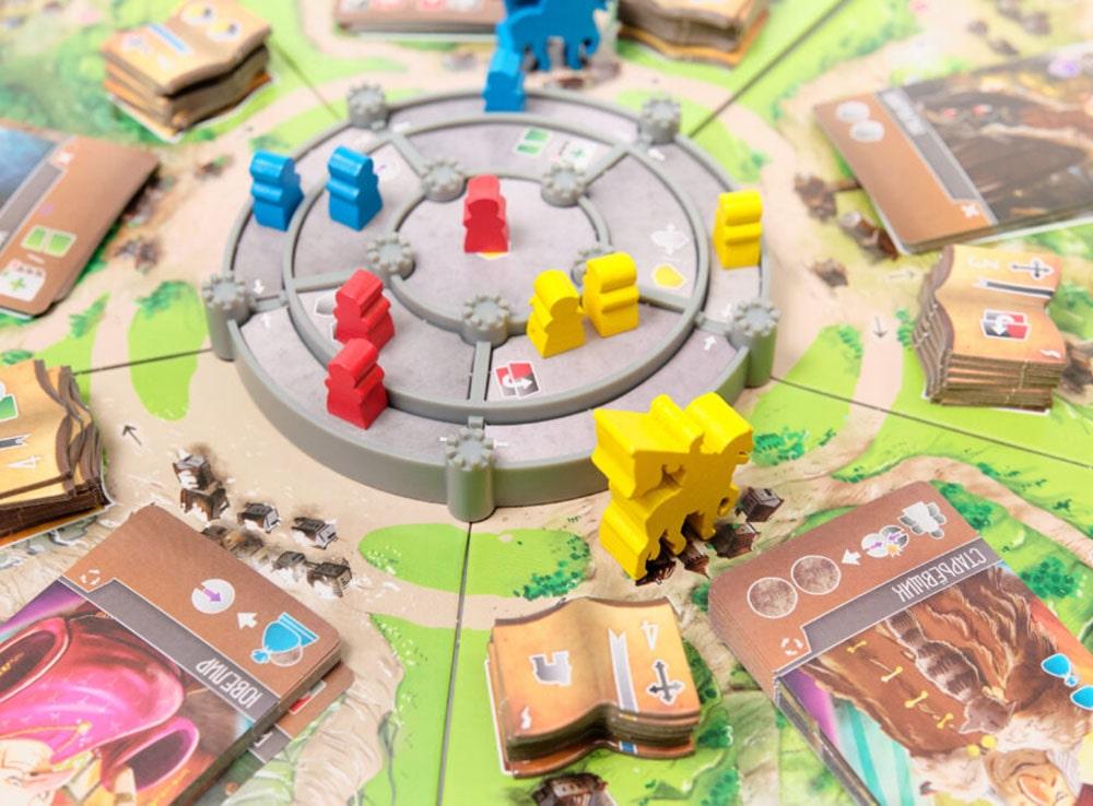 Компоненты настольной игры Виконты Западного Королевства