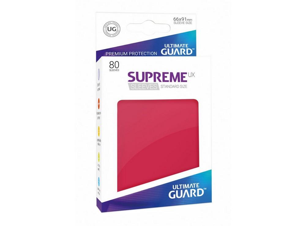 Протекторы Ultimate Guard, красные (Supreme UX Sleeves Standard Size Red)