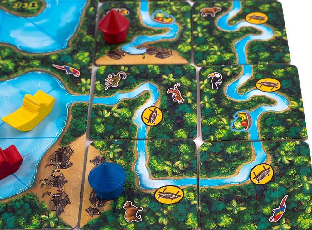 Игровой процесс настольной игры Каркассон Амазонка