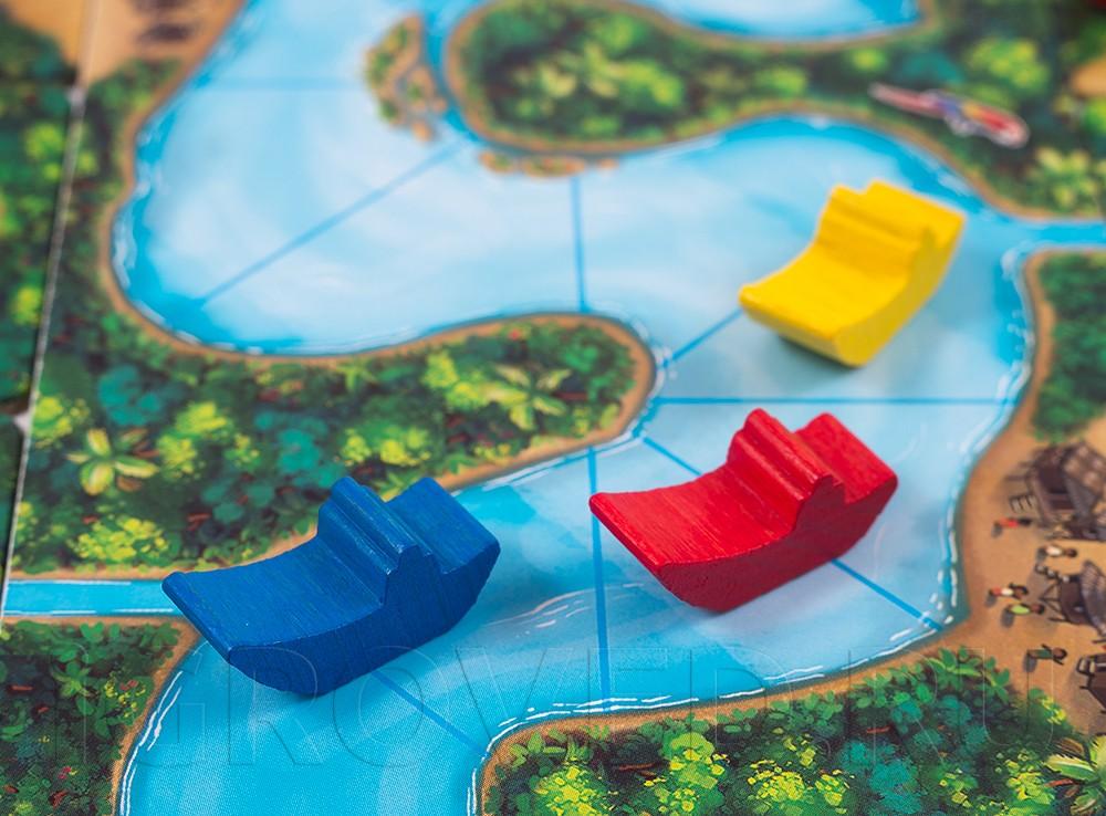 Река Амазонка из настольной игры Каркассон Амазонка