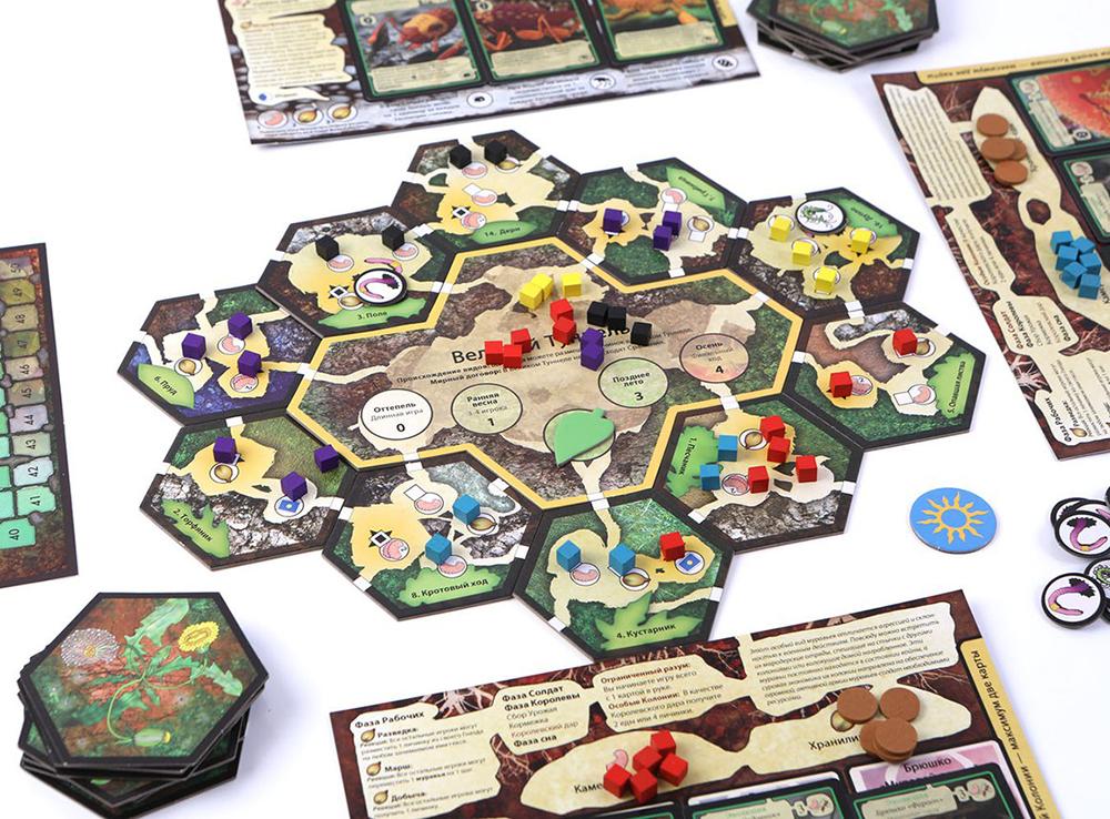 Игровой процесс настольной игры Марш муравьев