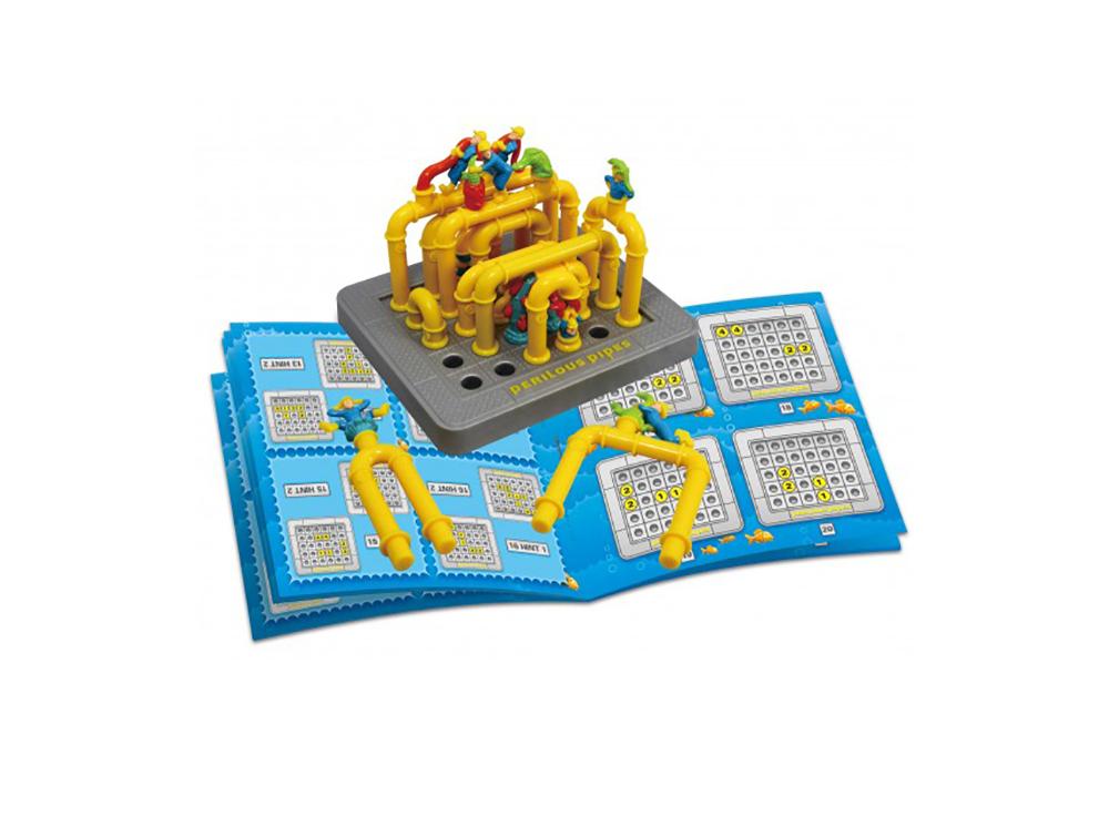 Компоненты настольной игры-головоломки Perilious Pipes