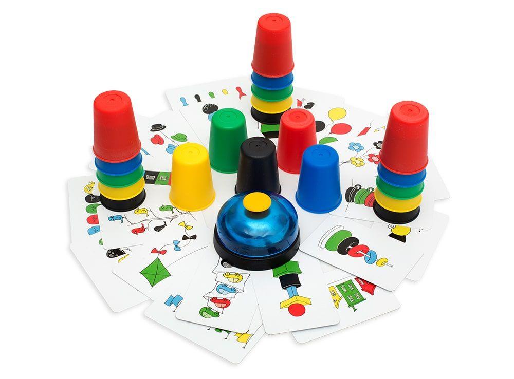 Компоненты настольной игры Скоростные колпачки (Speed cups)