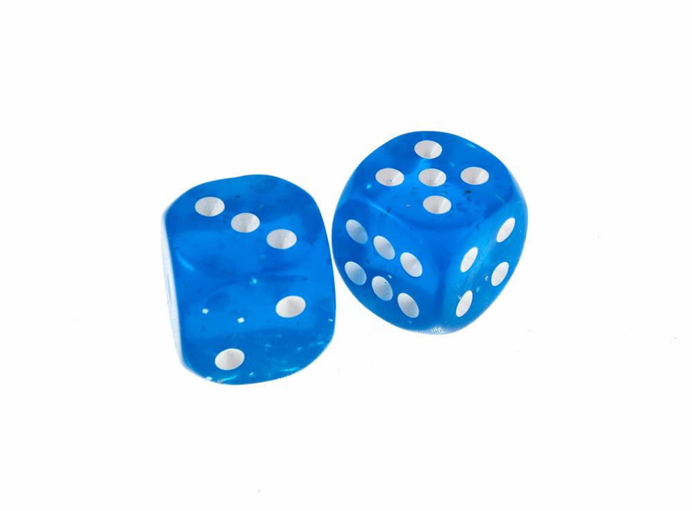 Кубик синий d6 19мм