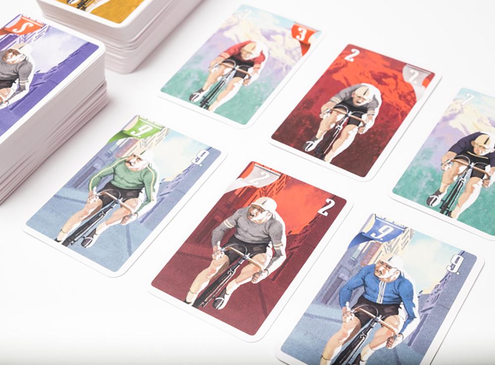 Компоненты настольной игры Крути педали