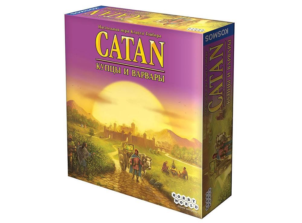 Коробка настольной игры Колонизаторы: Купцы и Варвары (дополнение)