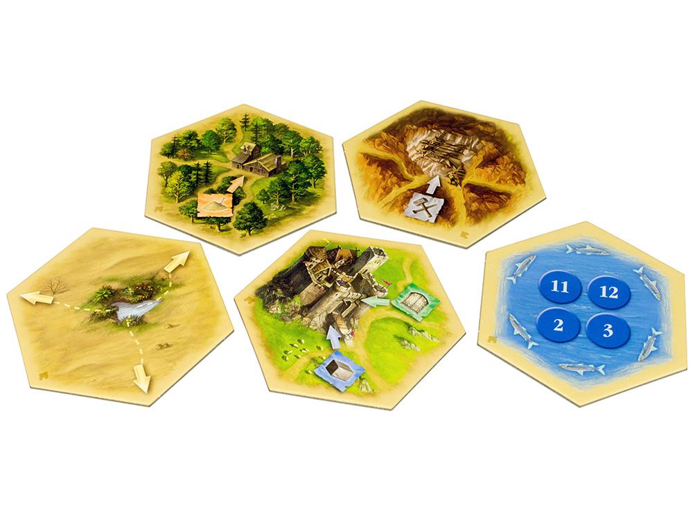 Гексы настольной игры Колонизаторы: Купцы и Варвары (дополнение)