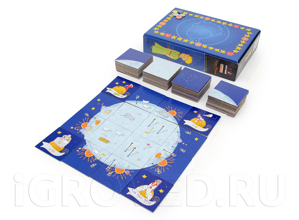 Компоненты настольной игры Маленький принц (The Little Prince: Make Me a Planet)