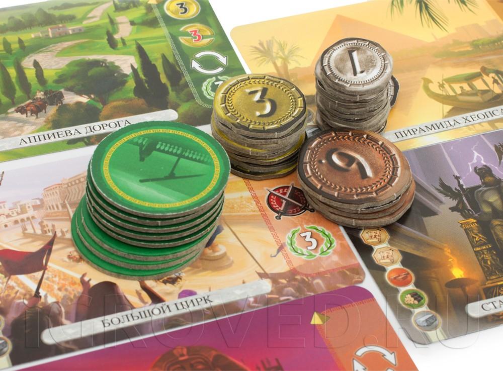 Настольная игра 7 Чудес Дуэль (7 Wonders Duel) достаточно агрессивная стратегия, в которой игроки противостоят друг другу.