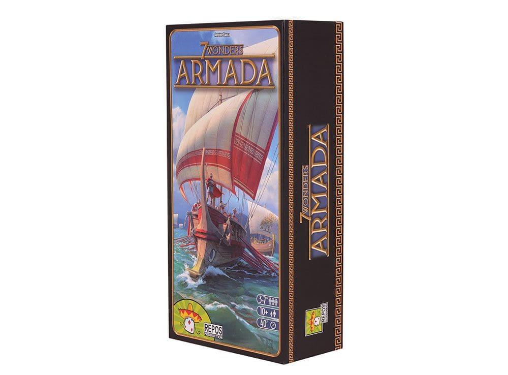 Коробка настольной игры 7 Чудес: Армада (7 Wonders: Armada, дополнение)