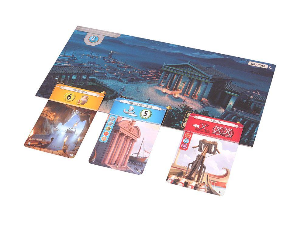 Компоненты настольной игры 7 Чудес: Армада (7 Wonders: Armada, дополнение)