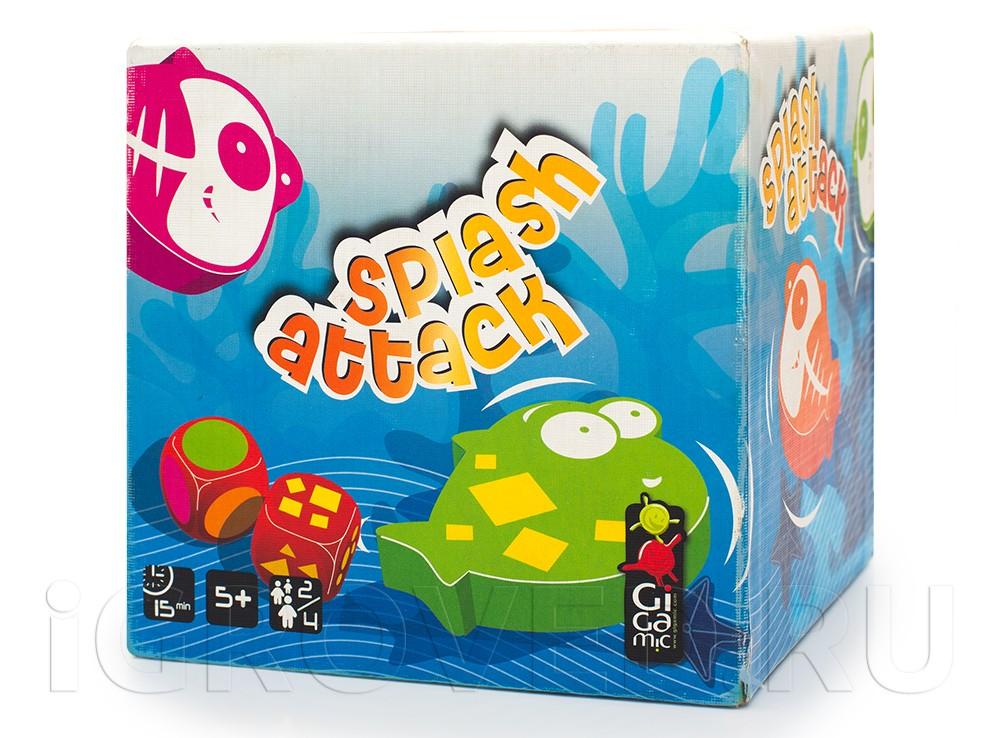 Коробка настольной игры Сплэш Атак (Splash Attack)